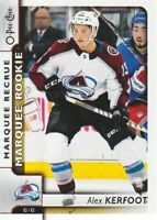 2017-18 O-Pee-Chee Hockey #648 Alex Kerfoot RC Colorado Avalanche