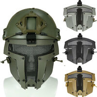 Paintball Airsoft SPT Mesh Full Face Mask Sparta Tactical Mask AF Helmet Mask