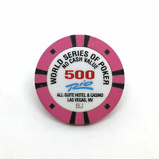 WSOP WORLD SERIES OF POKER TOURNAMENT CHIP $500 · RIO CASINO LAS VEGAS NEVADA BJ
