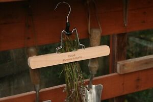 Vintage Style Wooden Dried Flower and Herb Dryer Hanger. Garden Allotment Tool.