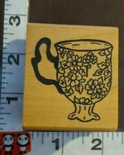 Beautiful flower teacup,286,me and Carrie lou,rubber stamp