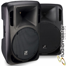 Pair of Studiomaster Drive 15A 1200W Active Powered Full Range PA Speakers BNIB