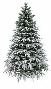 Christmas Tree Artificial with Snow Frosting Mixed Pile Branches 6ft