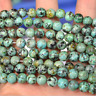 Natural African Turquoise Gemstone Round Beads 15.5'' 4mm 6mm 8mm 10mm 12mm