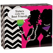 """SISTERS MAKE THE BEST FRIENDS Block Sign, 5"""" x 6"""" by Carson"""