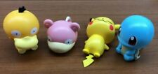 Bandai Pokemon Figure Capchara Gashapon 5 Pikachu Squirtle Slowpoke 4 pcs