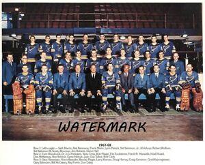 NHL 1967 - 68 St. Louis Blues 1st Season Color Team Pic 8 X 10 Photo Picture