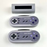 Acclaim Wireless Dual Turbo SNES Controllers Super Nintendo Tested Working Rare