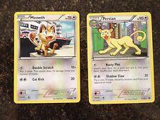 Pokemons Next Destinies Non-Holo Persian & Meowth  Ex/NM