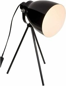 CONTEMPORARY BLACK METAL TRIPOD STAND OFFICE DESK LAMP TABLE LIGHT NEW OOTB