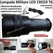 TORCIA TATTICA MILITARE RICARICABILE CREE LED 80000W 800 LUMEN ZOOM ZMY T808 T6
