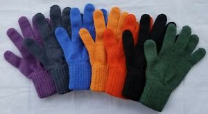 Alpaca Gloves Sizes M L Unisex Made in USA by Natural Fiber Producers
