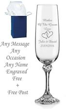 Personalised Engraved Champagne Flute Glass Mother of the Bride gifts, boxed