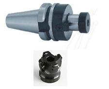 BT30 FMB27+ 80mm face mill cutter and 10 aluminium carbide inserts CNC mill(B)