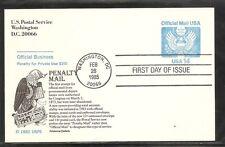 US SC # UZ3 Official Mail Postage FDC. Aristocrat Cachet
