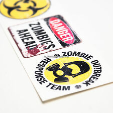 3x ZOMBIE OUTBREAK SET Funny Laptop,Tablet,Ipad,Skateboard,Helmet Vinyl Stickers