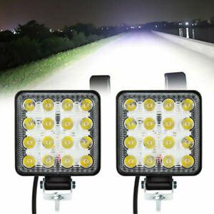 2pcs/set 16LED 12V 48W LED Lamp Spotlight Reversing Lights Car Floodlight White