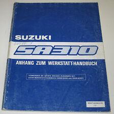 Werkstatthandbuch Suzuki Swift SA 310 / SA310 Typ AA Anhang Baujahr 1983 - 1989