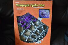 HOLOGRAPHIC HALLOWEEN SPIDER WEB 100 LIGHTS Brand New, Tested