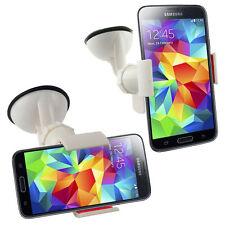Supporto auto ventosa parabrezza pinze per Samsung Galaxy S5 SV Mini G800 Bianco