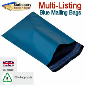 STRONG BLUE MAILING BAGS Postage Mailers Plastic Post Polythene *RECYCLABLE*