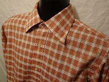 VTG Enro Permanent Press Red Plaid Mens L/S Disco Shirt M Cotton Blend