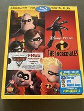 Disney's The Incredibles Blu-ray/Dvd, 2011 4-Disc Set, Digital Copy w/ Slipcover