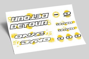 Dyno Detour1992  Decal Set Stickers old school BMX Restoration