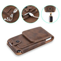 For iPhone Xs Max Xr 8 7 6 Plus Phones Leather Case Pouch Belt Clip Loop Holster