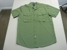 029 MENS NWOT MOUNTAIN DESIGNS DRIFT SS OLIVE GREEN S/S SHIRT SZE MEDM $120 RRP.