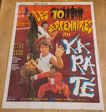 LES 10 MERCENAIRES DU KARATÉ Affiche cinéma 120X160 FANG YEH - KUNG FU