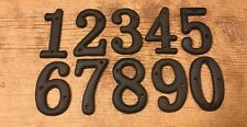 "Soild Cast Iron House Address Numbers 3 1/2"" tall (Set of All Ten) 0184J-13021"
