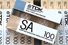 TDK SA 100 HIGH BIAS TYPE II BLANK AUDIO CASSETTE - 1988