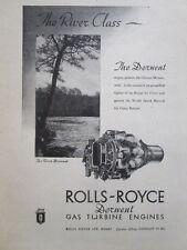 9/1946 PUB ROLLS-ROYCE DERWENT RIVER GLOSTER METEOR RAF WORLD SPEED RECORD AD