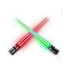 Chop Sabers Light Up LightSaber Chopsticks Set 2 Pairs Red Gree... Free Shipping