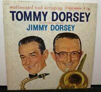 TOMMY DORSEY JIMMY DORSEY SENTIMENTAL & SWINGING (VG+) CL-1240  LP VINYL RECORD