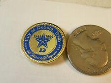 New listing City Of Desoto Texas 50 Years Of Progress Travel Pin