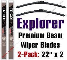 2002-2004 Ford Explorer (EXCEPT Sport) Wipers 2pk Premium Beam Blades - 19220x2
