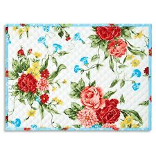 The Pioneer Woman Sweet Rose Quilted Placemat, Set of 4, NWT