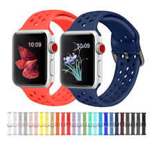 For Apple Watch Series 5/4/3/2/1 Breathable Soft Silicone Sports Band Strap