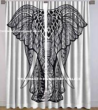 Indian Elephant Mandala Cotton Hippie Tapestry Door Cutain Decor Window Curtains