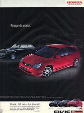 PUBLICITE ADVERTISING  2003   CIVIC  HONDA   series sport