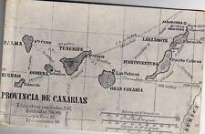 Postal MAPA DE GRAN CANARIA. GRAN CANARIA. Reverso = DIVIDIDO.
