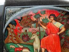 Superbe Russe Peint à la Main Boîte Bible Story Joseph