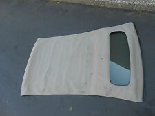 1wc12kt3aa 2012 FIAT 500 Tan Convertable Folding Top Roof Rear Glass Window #A