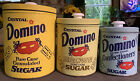 Crystal Domino Pure Cane Sugar Set Of 3 Vintage Collector Canister Tins