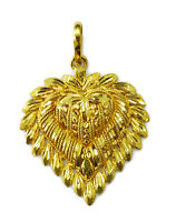 22K Yellow Gold Heart Charm Necklace Pendant ~ 5.0g