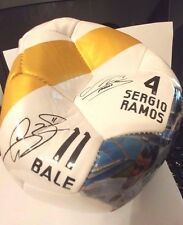 Real Madrid Singed Soccer Ball Team Picture Official Licensed Product New Size 5