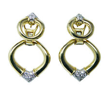 Vintage 18K Gold Diamond Earrings Day Night Designer FLAIRCRAFT Estate 2 for 1