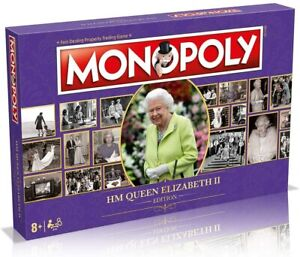 HM Queen Elizabeth II Edition Monopoly Board Game Royal Gift Collect